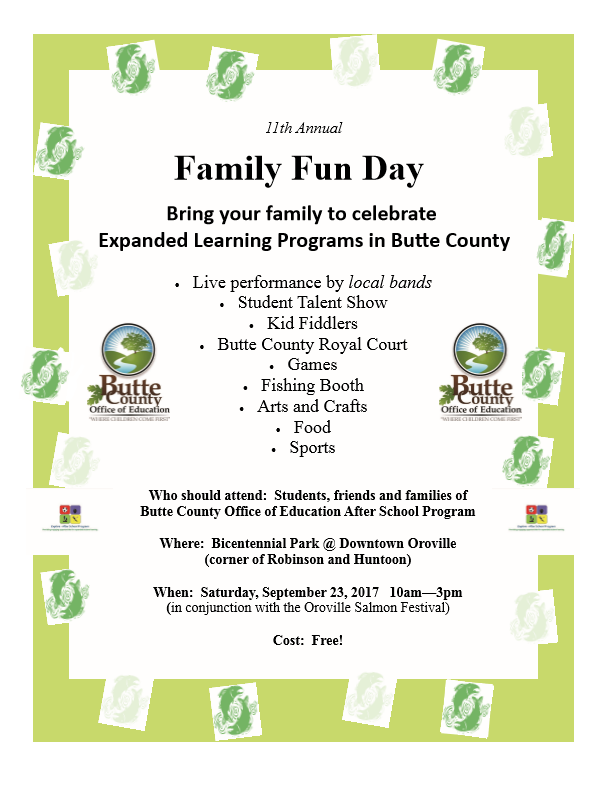 11th Annual Family Fun Day Flyer